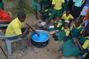 The Water Project:  Student Participates In Soapmaking