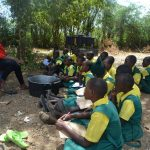 The Water Project: Kakunike Primary School -  Students Learn About Soapmaking