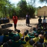 The Water Project: Kakunike Primary School -  Trainer Discusses Handwashing