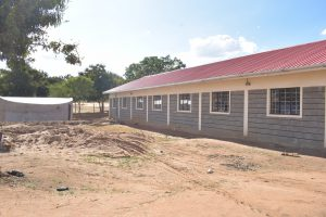 The Water Project:  Nearly Complete Tank And School Building