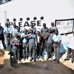 The Water Project: Kalulini Boys' Secondary School -  Posing In Front Of The New Tank