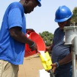 The Water Project: Tholmossor, Amputee Camp -  Chlorination
