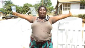 The Water Project:  Community Woman Rejoicing For Safe Drinking Water