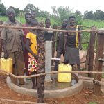 The Water Project: Kimigi Kyamatama Community -  People At The Completed Well
