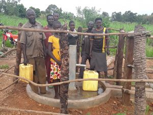 The Water Project:  People At The Completed Well