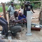 The Water Project: Kimigi Kyamatama Community -  Pump Installation