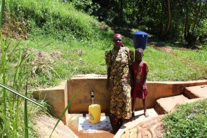 The Water Project:  Mrs Gladice Wangwa