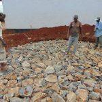 The Water Project: Ikumba Secondary School -  Rain Tank Stone Foundation