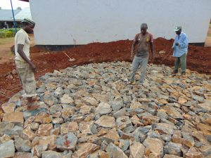 The Water Project:  Rain Tank Stone Foundation