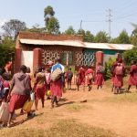 The Water Project: Ebukhuliti Primary School -  Students Arrive At School