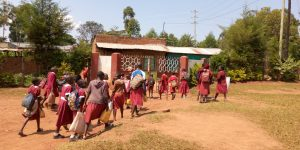 The Water Project:  Students Arrive At School