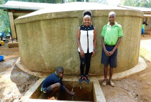 The Water Project:  Field Officer Georgina Kamau With Students