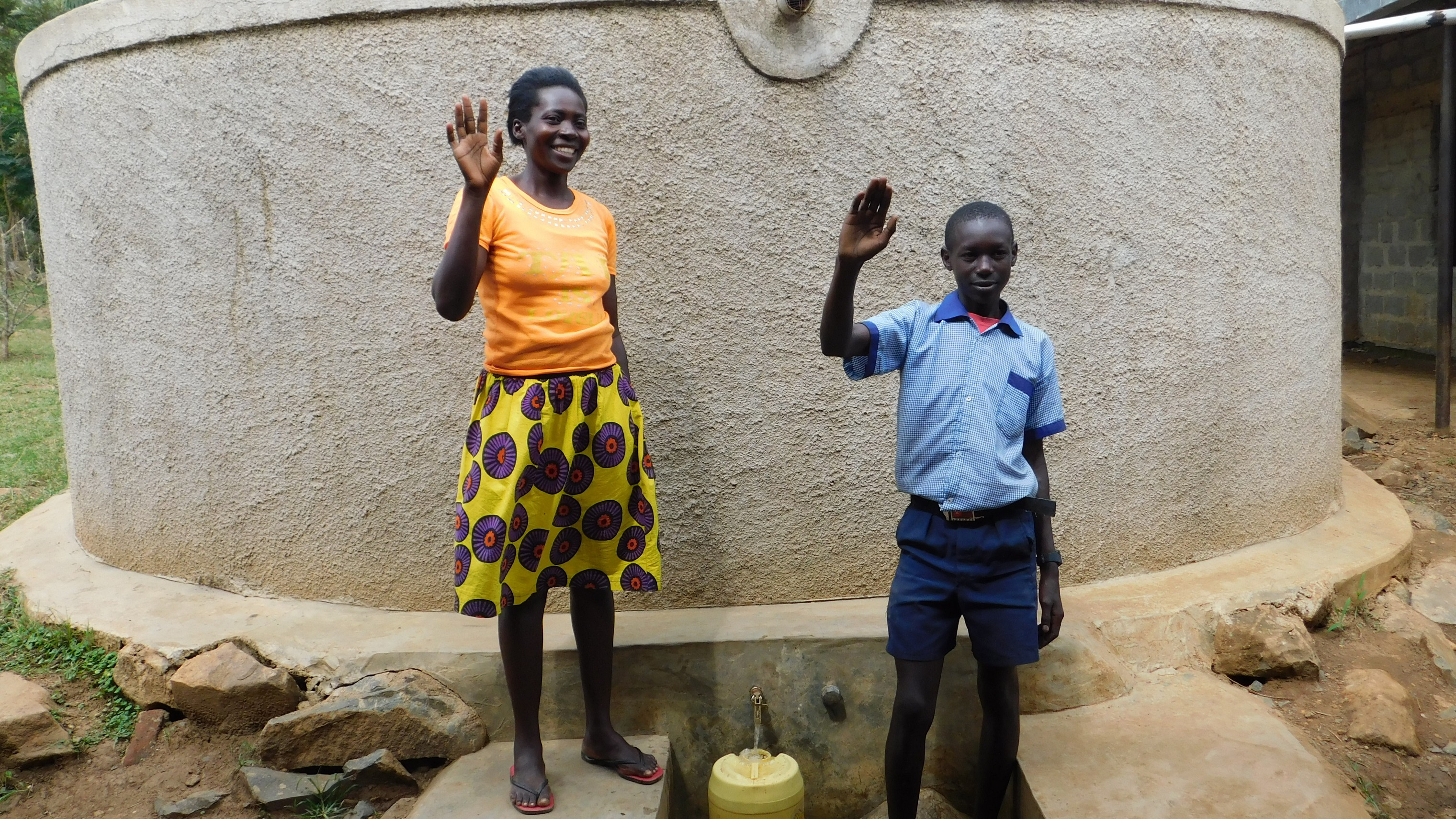 The Water Project : 1-kenya-18019-karen-awino-and-william-otieno