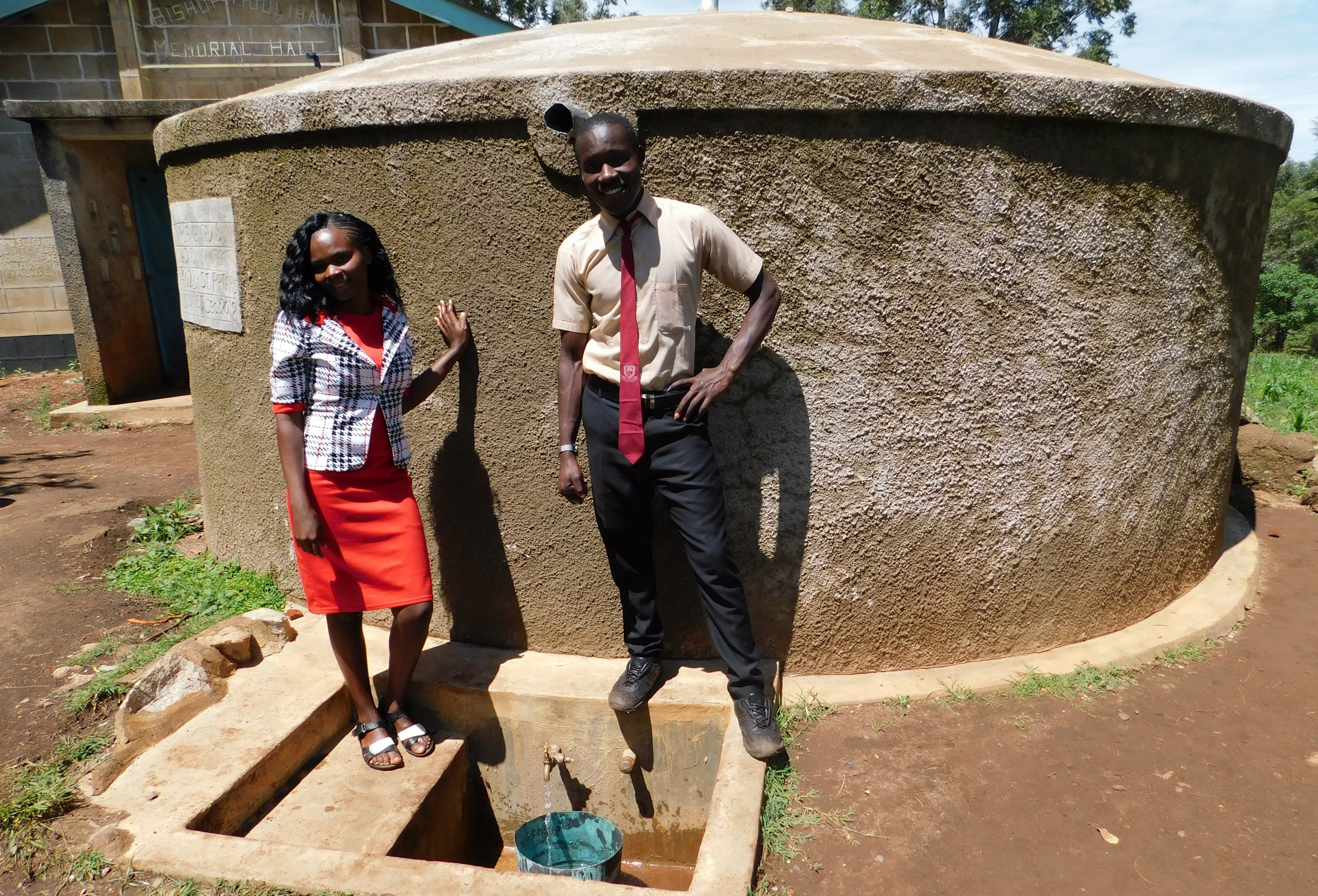 The Water Project : 1-kenya18023-teacher-mrs-gloria-tsindoria-and-student-calvar-alionya