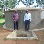 The Water Project: St. Stephen Maraba Secondary School -  Principal Dominic Ongeri Right With Field Officer Samuel Samidi