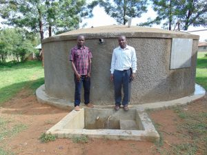 The Water Project:  Principal Dominic Ongeri Right With Field Officer Samuel Samidi