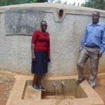 The Water Project: Namalasire Primary School -  Field Officer Janet Kayi With Head Teacher Mr Patrick Mango