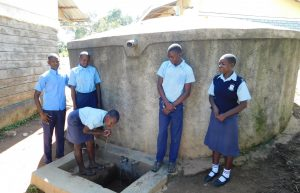 The Water Project:  Students At Rain Tank