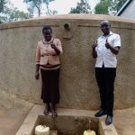 The Water Project: Emmaloba Primary School -  Health And Sanitation Teacher Judith Andayi With Field Officer Wilson Kipchoge