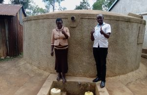 The Water Project:  Health And Sanitation Teacher Judith Andayi With Field Officer Wilson Kipchoge