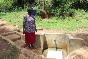 The Water Project:  Margaret Jumba Muyale Spring Landowner