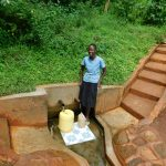 The Water Project: Emwanya Community, Josam Kutsuru Spring -  Christine Musungu