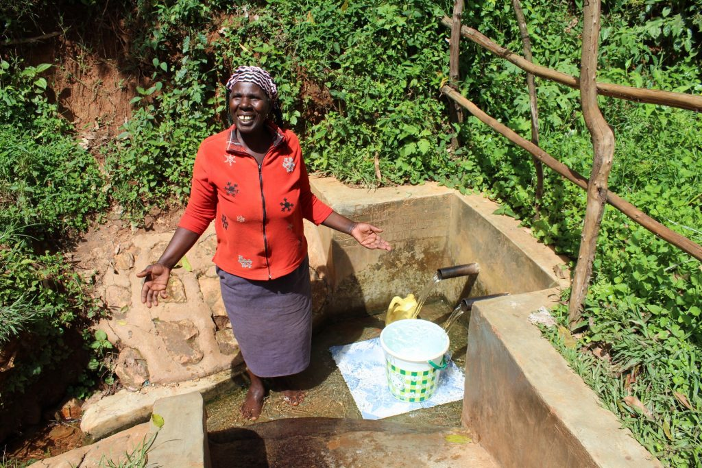 The Water Project : 1-kenya18104-beatrice-chomba-at-the-spring