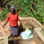 The Water Project: Jivovoli Community, Wamunala Spring -  Beatrice Chomba At The Spring