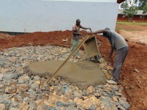 The Water Project:  Pouring Cement