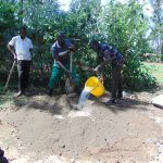 The Water Project: Buhayi Community, Nasichundukha Spring -  Mixing Cement
