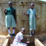 The Water Project: Shitaho Primary School -  Students And Field Officer Joan Were