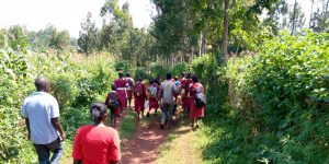 The Water Project:  Students Enroute To The Spring