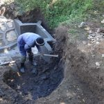 The Water Project: Eshikhugula Community, Shaban Opuka Spring -  Staircase Excavation