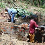 The Water Project: Shamiloli Community, Kwasasala Spring -  Spring Walls Take Shape