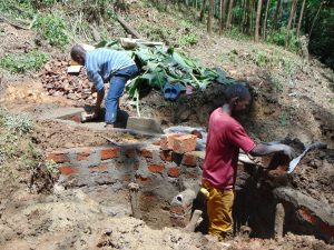 The Water Project:  Spring Walls Take Shape