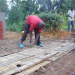 The Water Project: Kapchorwa Primary School -  Latrine Floor Foundation