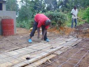 The Water Project:  Latrine Floor Foundation