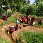 The Water Project: Ebukhuliti Primary School -  Students Arrive At Spring