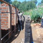 The Water Project: Kapchorwa Primary School -  Latrine Walls Going Up
