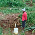 The Water Project: Namarambi Community, Iddi Spring -  At The Spring