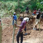The Water Project: Shamiloli Community, Kwasasala Spring -  Fencing Off The Area