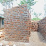 The Water Project: Makunga Primary School -  Latrine Walls Going Up