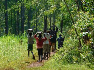 The Water Project:  Children Carry Stones To The Spring