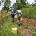 The Water Project: Kalenda B Community, Lumbasi Spring -  Walking Home