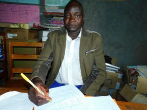 The Water Project:  School Chairperson Mr David Mbacha