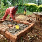 The Water Project: Mutao Community, Kenya Spring -  Sanitation Platform Construction