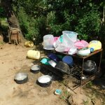 The Water Project: Emurumba Community, Makokha Spring -  Dishrack