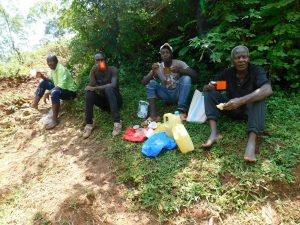 The Water Project:  Artisan And Laborers Re Energizing After Work