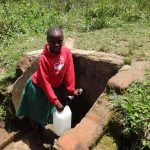 The Water Project: Mwichina Primary School -  Fridah Fetches Water