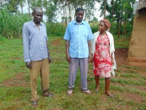 The Water Project:  Shaban Musa Left And Leonard Hassan Center